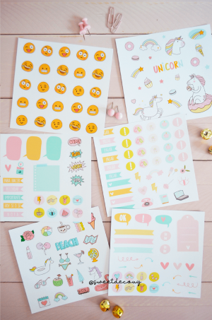 Set stickers